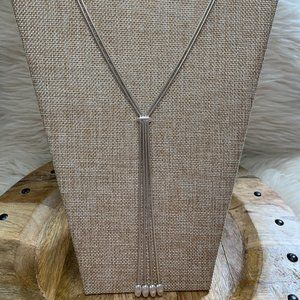 Sterling 925 Double Snake Chain Bolero Necklace